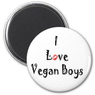 Imanes de los veganos del amor iman de frigorífico