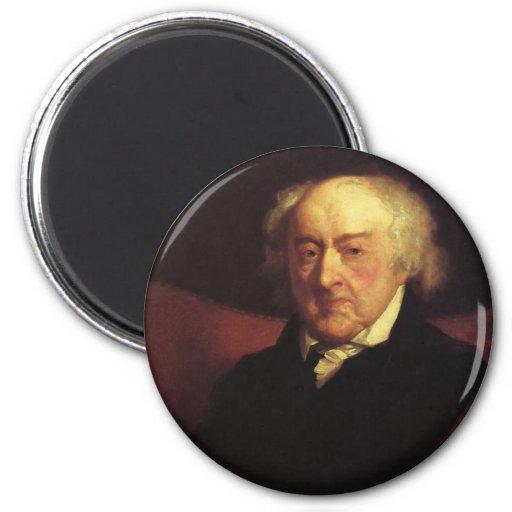 Imanes de presidente John Adams Imán Redondo 5 Cm