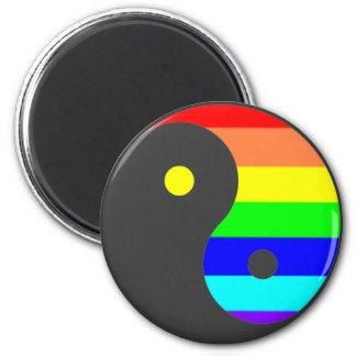 Imanes de Yin Yang del arco iris Imán Redondo 5 Cm
