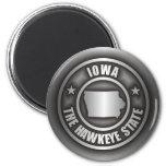 """""""Imanes del acero de Iowa"""" Imanes Para Frigoríficos"""