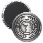 """""""Imanes del acero de Michigan"""" Imán Redondo 5 Cm"""