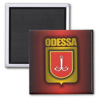 """""""Imanes del acero de Odessa"""" Imán Cuadrado"""