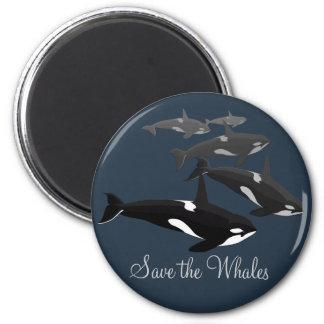 Imanes del arte de la orca del imán del refrigerad