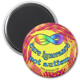 Imanes del autismo de la ignorancia de la curación imán redondo 5 cm