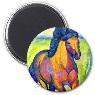 Imanes del caballo del color de agua imán redondo 5 cm