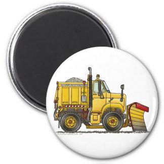 Imanes del camión del quitanieves imán redondo 5 cm