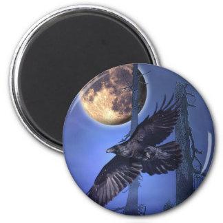 Imanes del cuervo imán redondo 5 cm