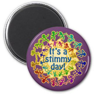 Imanes del día de Stimmy Imán Redondo 5 Cm