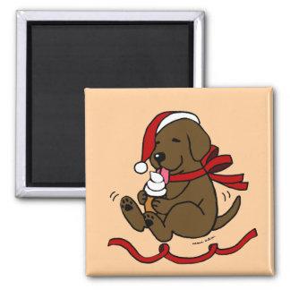 Imanes del dibujo animado del navidad del perrito  imán de frigorifico