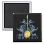Imanes del diseño del banjo del Bluegrass Imán Cuadrado