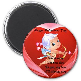 Imanes del el día de San Valentín Imán Redondo 5 Cm