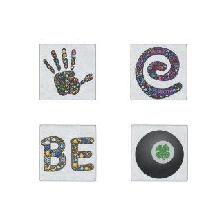 imanes del Emoji-arte, trozos de conversación Imán De Piedra