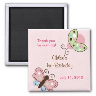 Imanes del favor del cumpleaños de la mariposa de  iman