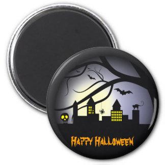 Imanes del feliz Halloween Imán Redondo 5 Cm