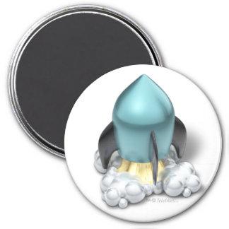 Imanes del icono de Launcher™ Rocket del DESAIRE Imán Redondo 7 Cm