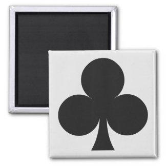 Imanes del jugador de tarjeta - club imán cuadrado