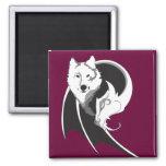 Imanes del lobo y del dragón imán para frigorifico