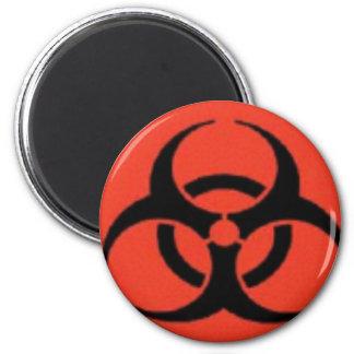 Imanes del logotipo del Biohazard Imán Redondo 5 Cm