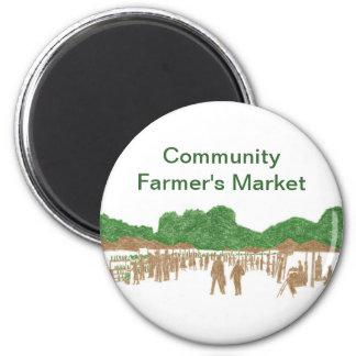 Imanes del mercado del granjero de la comunidad imán redondo 5 cm