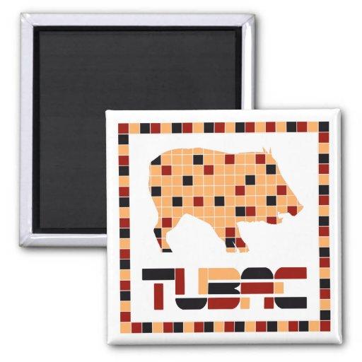 Imanes del mosaico de Tubac Javelina Imanes De Nevera