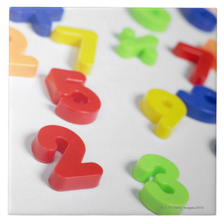 Imanes del número azulejo cuadrado grande