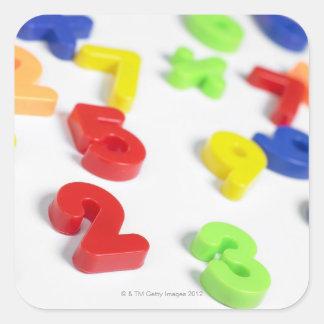 Imanes del número pegatina cuadrada