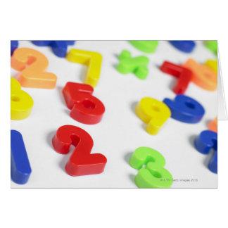 Imanes del número tarjeta de felicitación