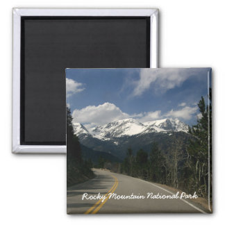 Imanes del Parque Nacional de las Montañas Rocosas Imán Cuadrado