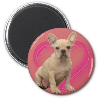 Imanes del perrito del dogo francés imán redondo 5 cm