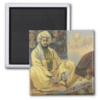 Imanes del poster de Nouveau del arte - vendedor Imán Cuadrado