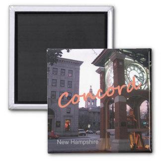 Imanes del recuerdo de la foto de New Hampshire de Imán Cuadrado