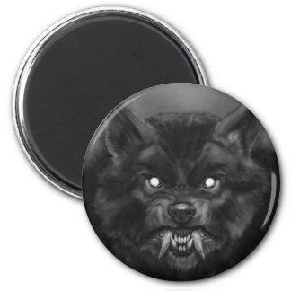 Imanes del refrigerador de la cara del hombre lobo imán redondo 5 cm