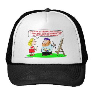 imanes del refrigerador del artista gorras