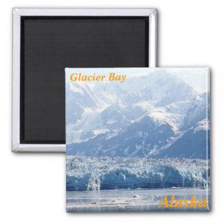 imanes del refrigerador del Glacier Bay Imán Cuadrado