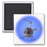 Imanes del refrigerador del helicóptero y imán cuadrado