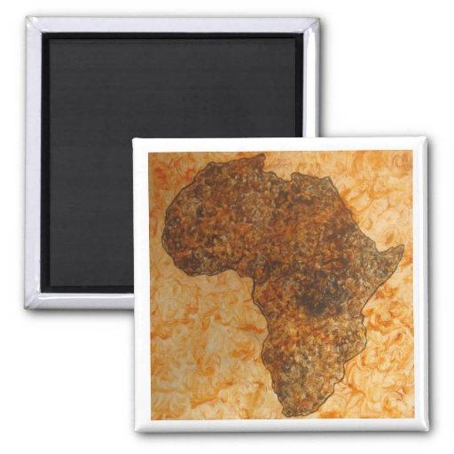 Imanes del regalo de Map_Art del africano de Injet Imanes
