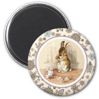 Imanes del regalo de Pascua del conejito del Imán Redondo 5 Cm