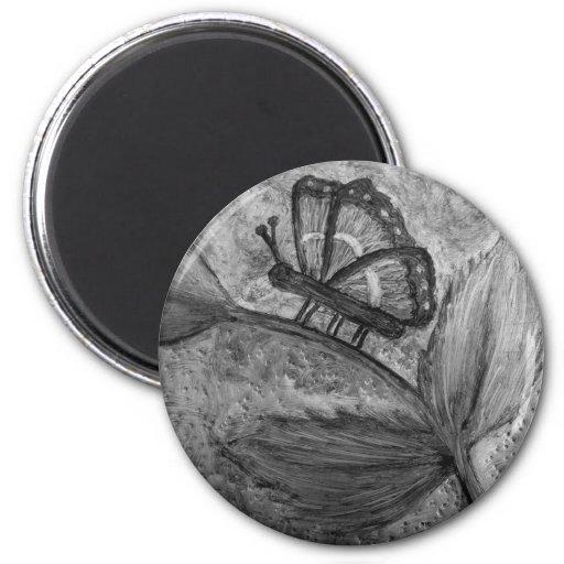 Imanes del regalo del arte de Butterfly_Inspiratio Imán