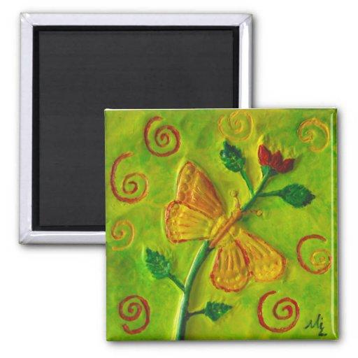 Imanes del regalo del arte de Swirls_Flower de la  Imanes