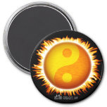 Imanes del símbolo el flamear Yin Yang Sun Iman De Nevera