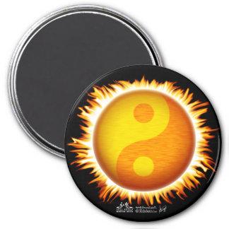 Imanes del símbolo el flamear Yin Yang Sun Imán Redondo 7 Cm