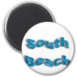 Imanes del sur de la playa iman para frigorífico