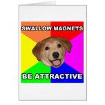 Imanes del trago del perro del consejo tarjeta de felicitación