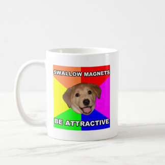 Imanes del trago del perro del consejo taza de café