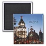 Imanes del viaje de la escena de la noche de Madri