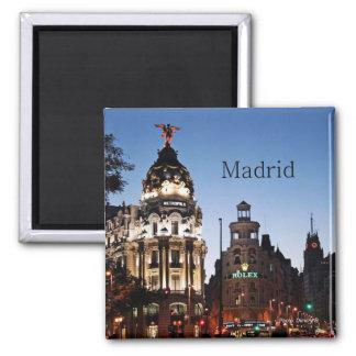 Imanes del viaje de la escena de la noche de Madri Imán Para Frigorifico