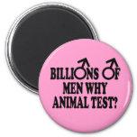 Imanes divertidos feministas de la prueba animal iman para frigorífico