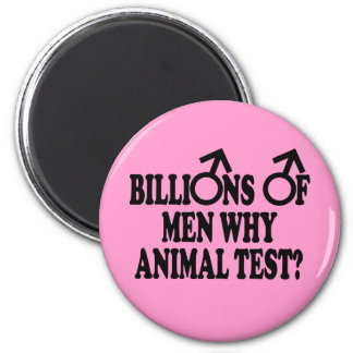Imanes divertidos feministas de la prueba animal imán redondo 5 cm