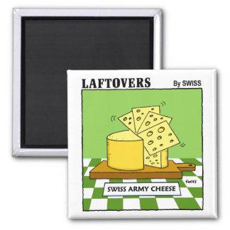 Imanes divertidos para los amantes del queso imán cuadrado