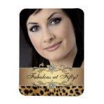 Imanes elegantes de la foto del leopardo